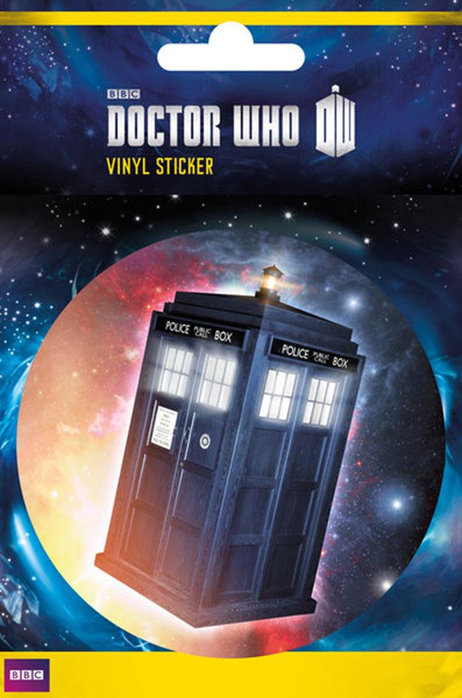 Doctor Who - Tardis - Sticker Aufkleber - Größe Ø9 cm