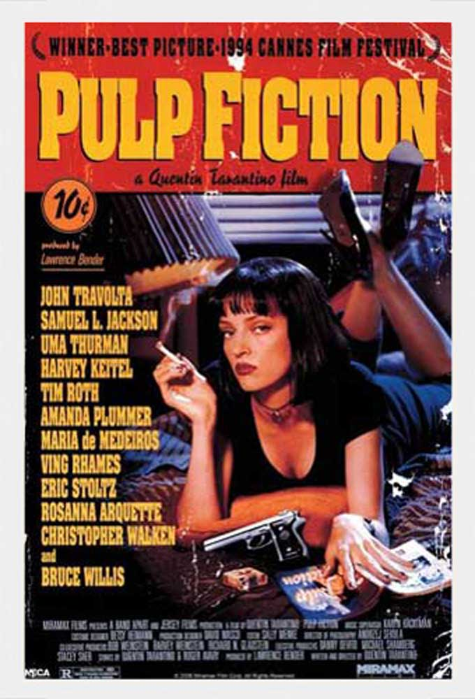 pulp fiction film film movie kino poster druck gr e 61x91 5 cm ebay. Black Bedroom Furniture Sets. Home Design Ideas