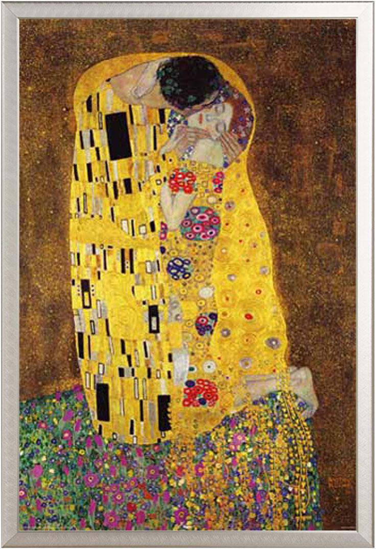 Gustav Klimt, Der Kuss, The Kiss Kunst - Poster - cm + Rahmen ...