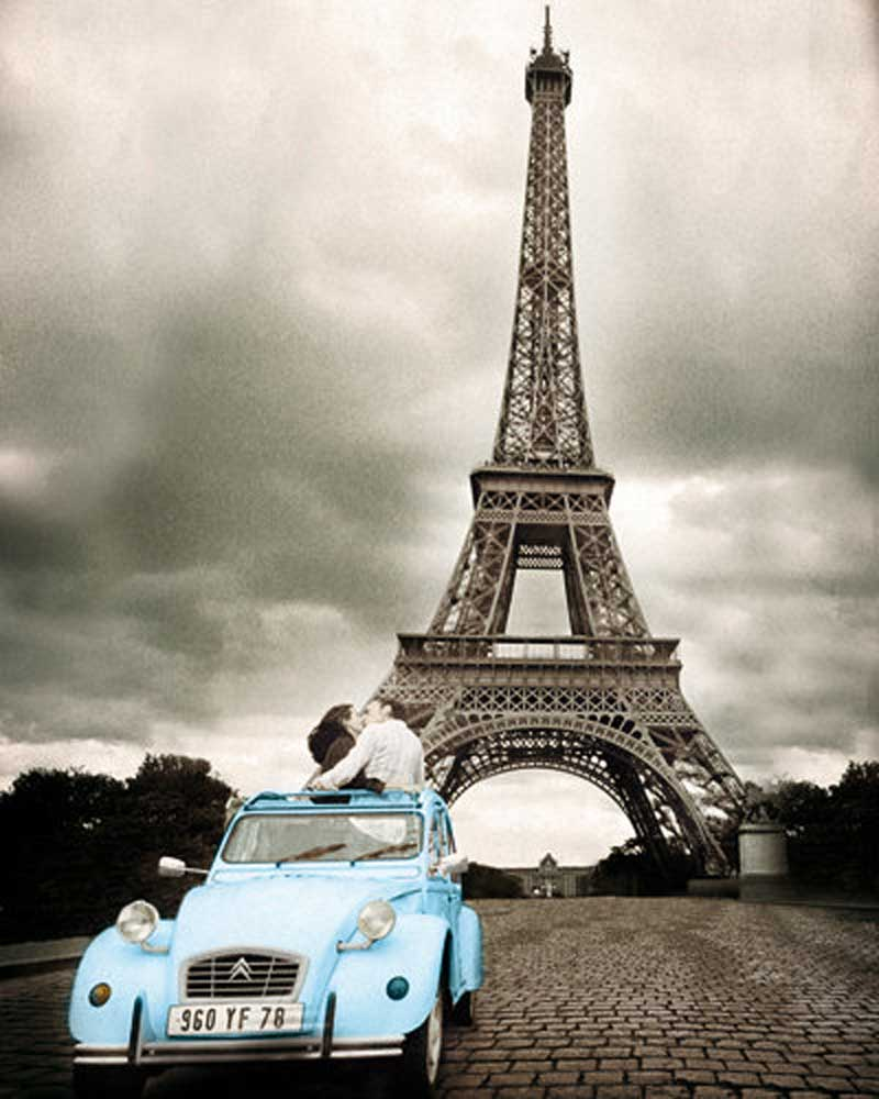 paris romance kiss schwarz wei plakat poster. Black Bedroom Furniture Sets. Home Design Ideas
