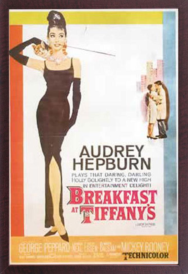 fr hst ck bei tiffany audrey hepburn 6 film poster druck gr e 61x91 5 cm ebay. Black Bedroom Furniture Sets. Home Design Ideas