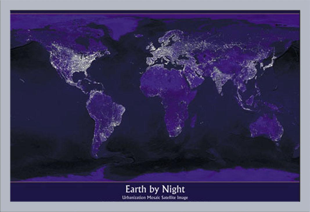Weltall universum erde bei nacht poster druck cm for Dekoration universum