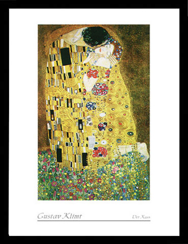 klimt gustav der kuss gem lde druck gr sse 50x70 kunstdruck artprint ebay. Black Bedroom Furniture Sets. Home Design Ideas