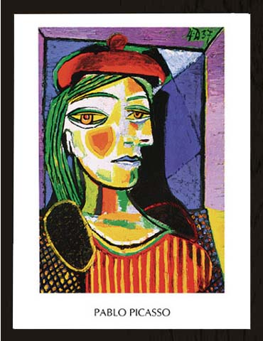 picasso pablo femme au beret rouge gem lde gr sse 60x80 kunstdruck artprint ebay. Black Bedroom Furniture Sets. Home Design Ideas