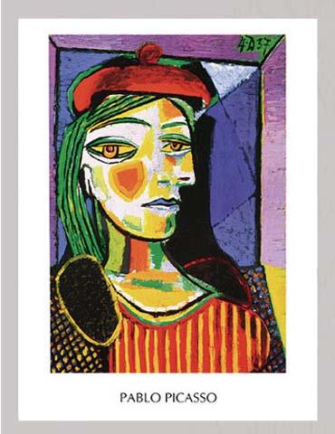 picasso pablo femme au beret rouge gem lde gr sse 60x80 kunstdruck artprint ebay. Black Bedroom Furniture Sets. Home Design Ideas