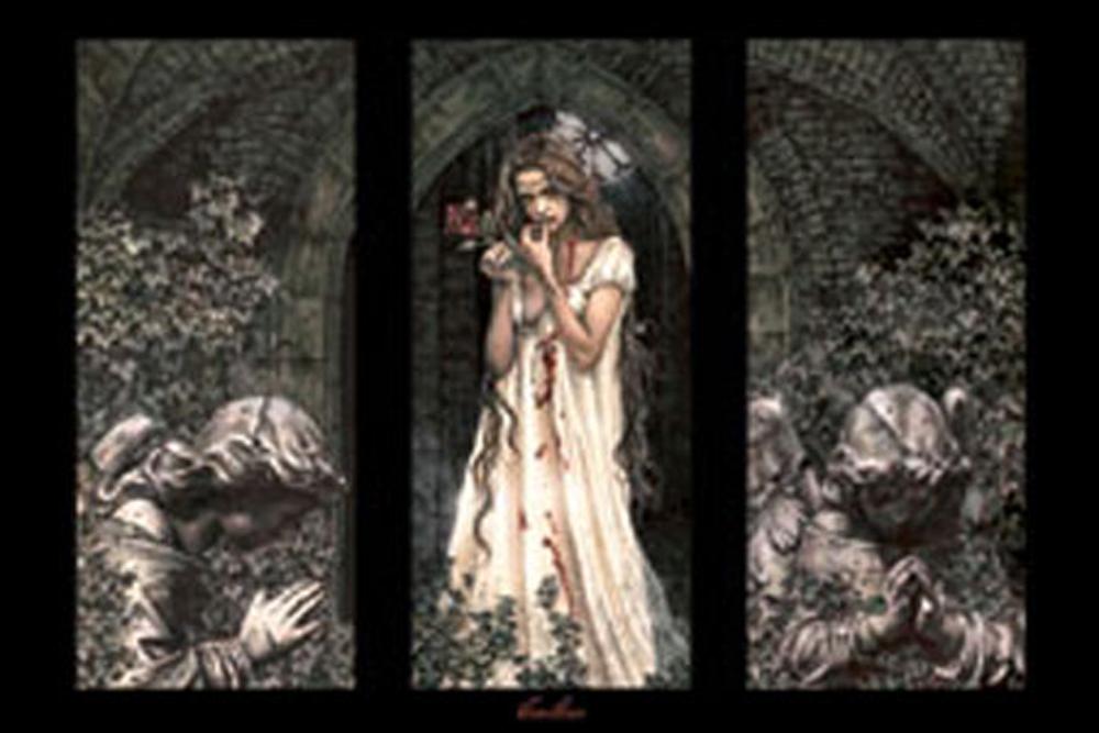 Victoria Frances Triptych Gothic Poster Druck Rahmen Kunststoff Mdf Alu Ebay