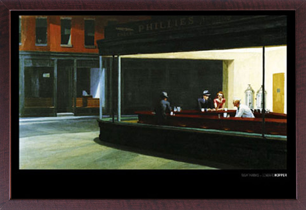 Hopper, Edward - Nighthawks - Bar - Poster Druck - + Rahmen ...