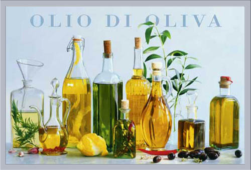 Küche Cuisine - Olio di Oliva, Olivenöl - Poster - + Rahmen ...