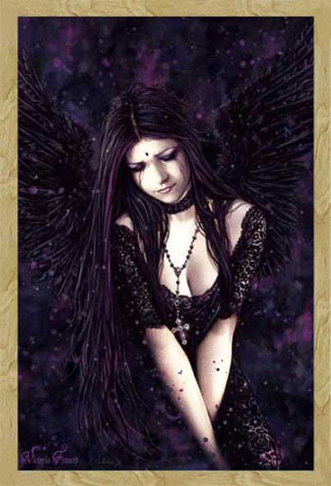 Victoria frances lamenting angel gothic poster for Gothic wohnen