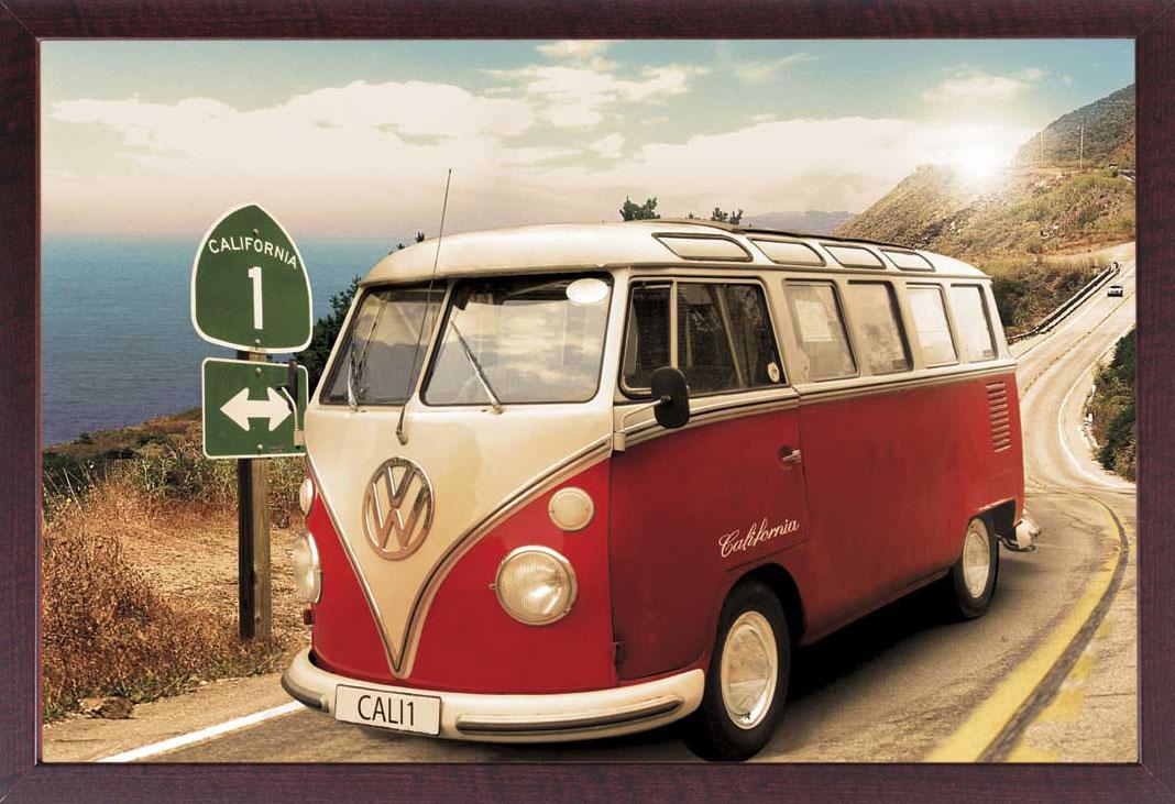Volkswagen - VW Bus Auto - Poster Druck - Größe cm + Rahmen ...
