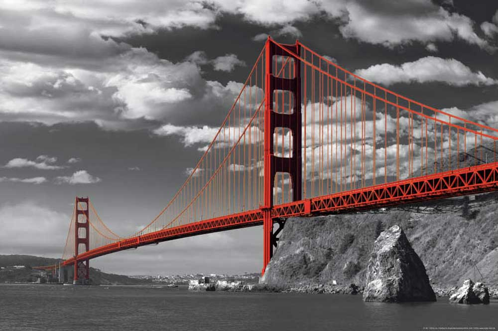 san francisco golden gate bridge colourlight. Black Bedroom Furniture Sets. Home Design Ideas