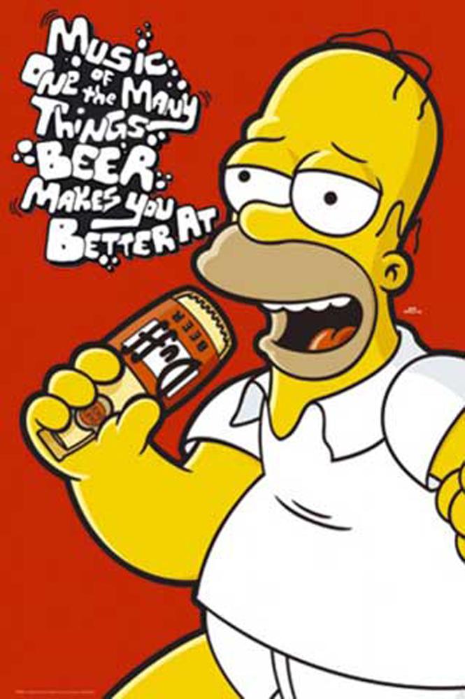 The Simpsons - Homer Music, - Poster Druck - Größe + Rahmen ...