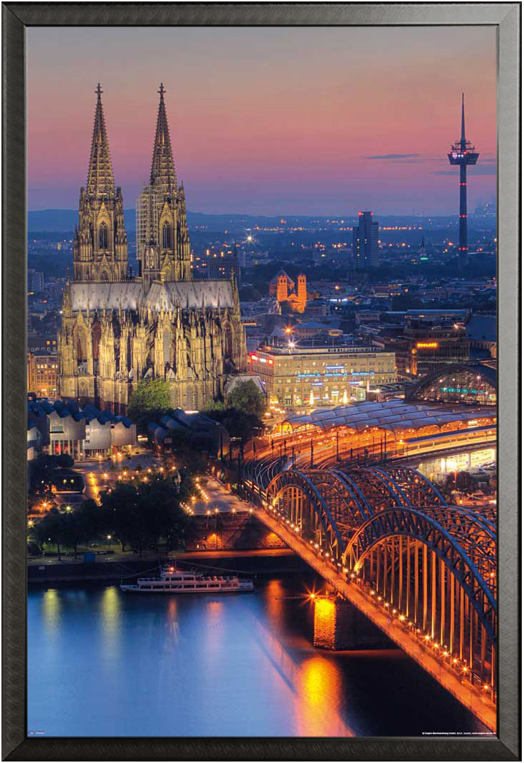 deutsche st dte k ln k lner dom nacht plakat plakat poster ebay. Black Bedroom Furniture Sets. Home Design Ideas