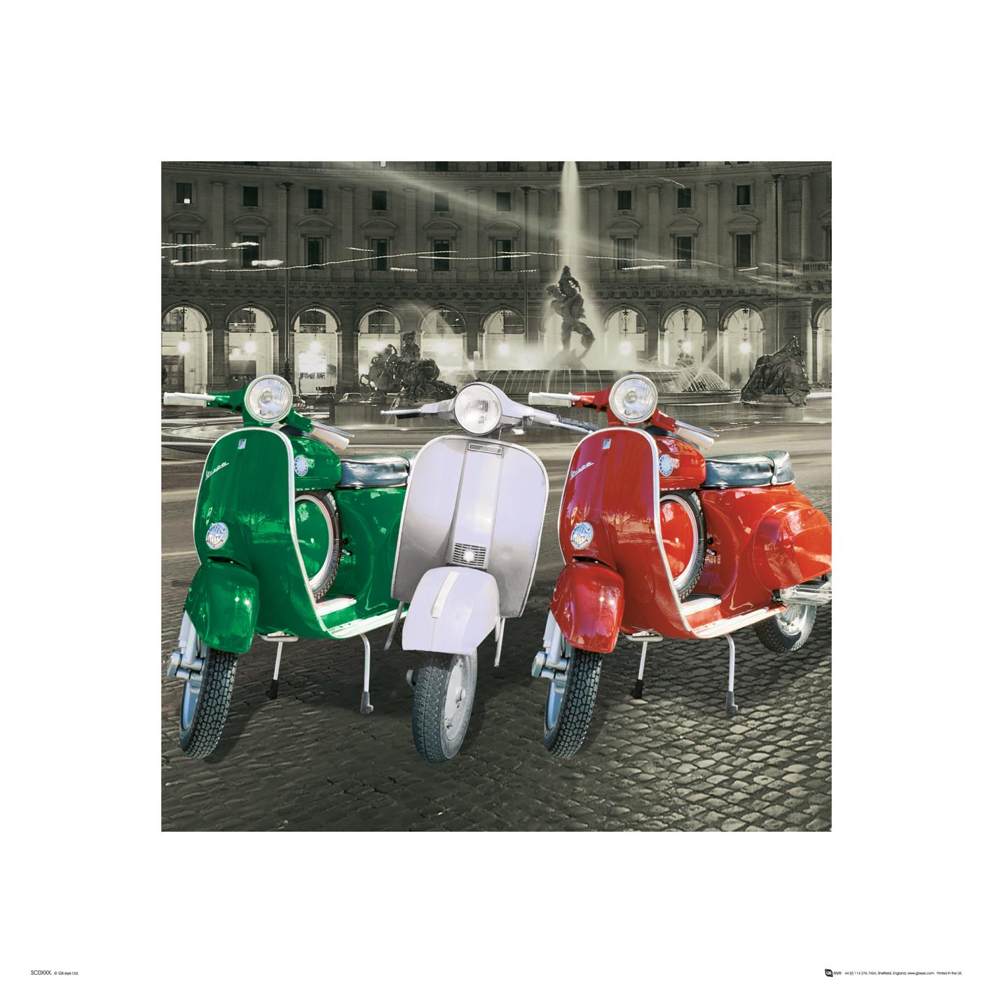 Italien vespas italien flagge kunstdruck rahmen mdf in for Vespa com italia