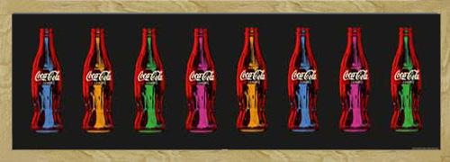 coca cola pop art flaschen slim poster plakat druck. Black Bedroom Furniture Sets. Home Design Ideas