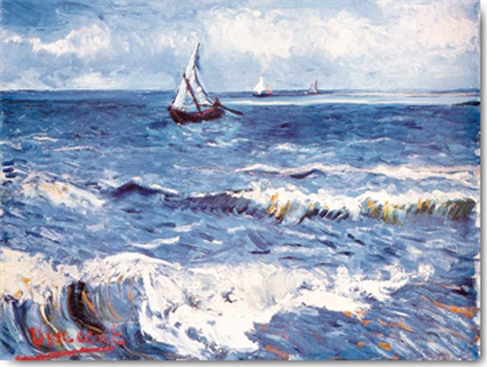 van Gogh, Vincent Paesaggio Marino Grösse 80x60 + Rahmen MDF in 5 ...