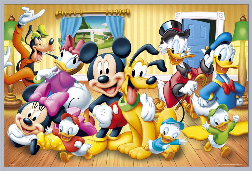Disney - Gruppenbild Mickey Mouse - Poster Druck - + Rahmen ...