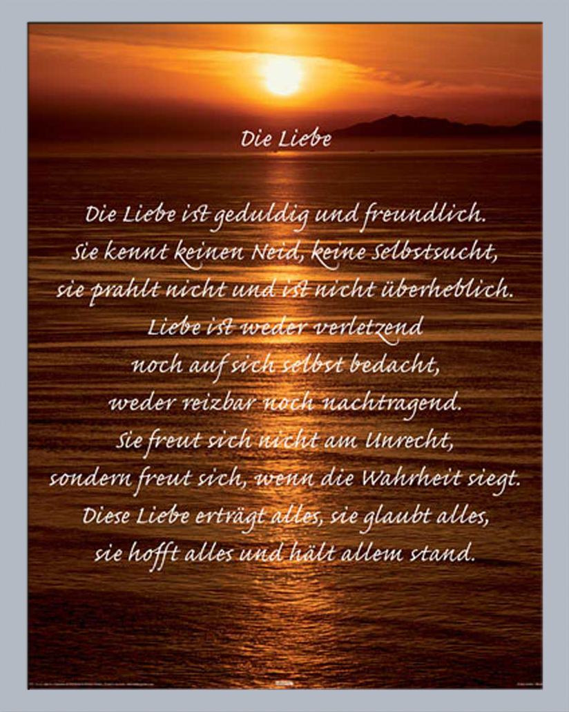 Zitate, Korinther - Liebe ist Mini Poster Plakat Druck | eBay