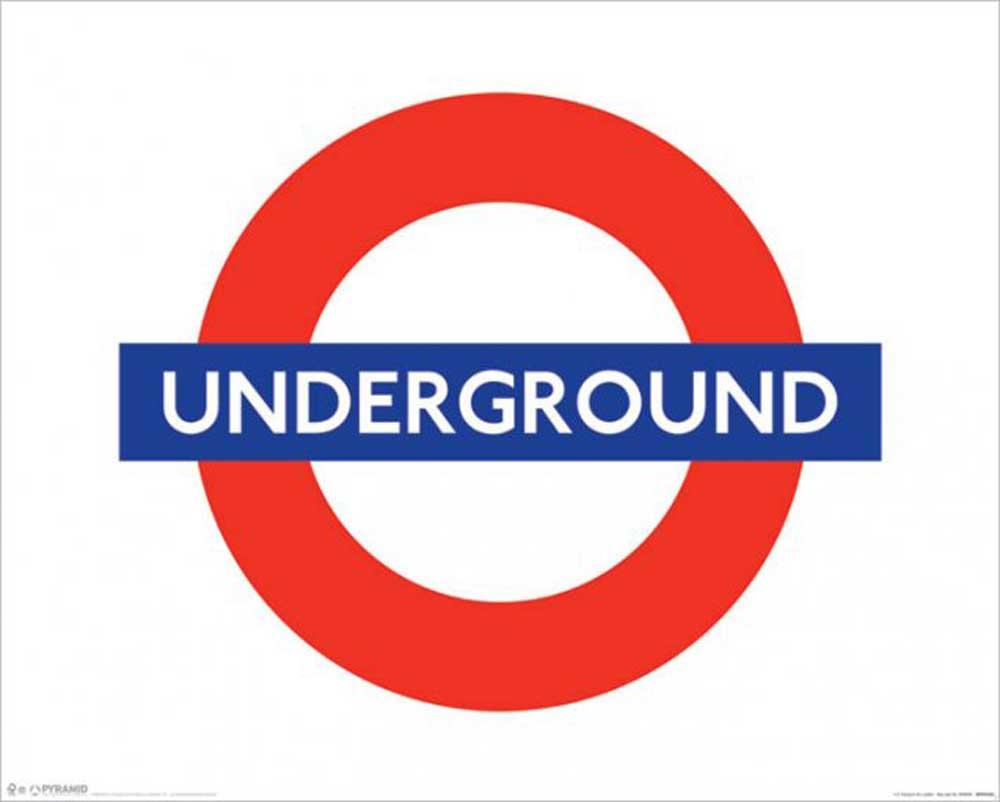 London - Underground - Tube - U-Bahn Städte Mini + Rahmen MDF oder ...