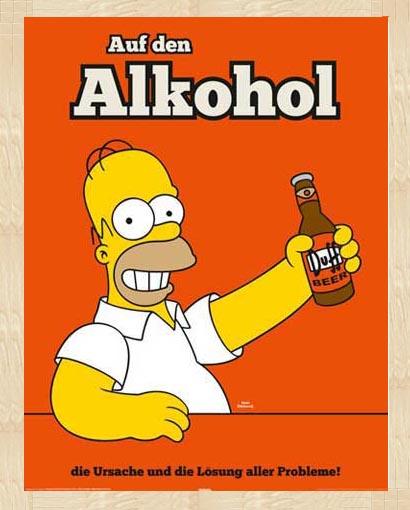 Die simpsons homer auf den alkohol kindersendungen for Alkohol dekoration