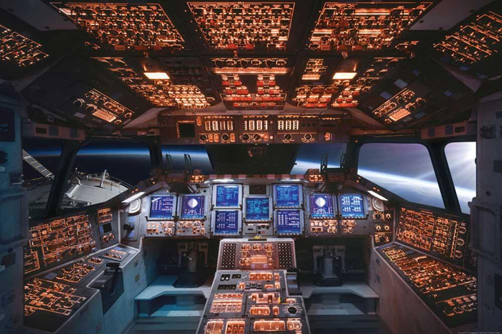 space shuttle cockpit poster - photo #2