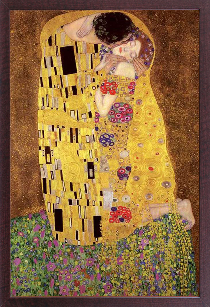 gustav klimt der kuss kunst impressionismus poster druck gr e 61x91 5 cm ebay. Black Bedroom Furniture Sets. Home Design Ideas