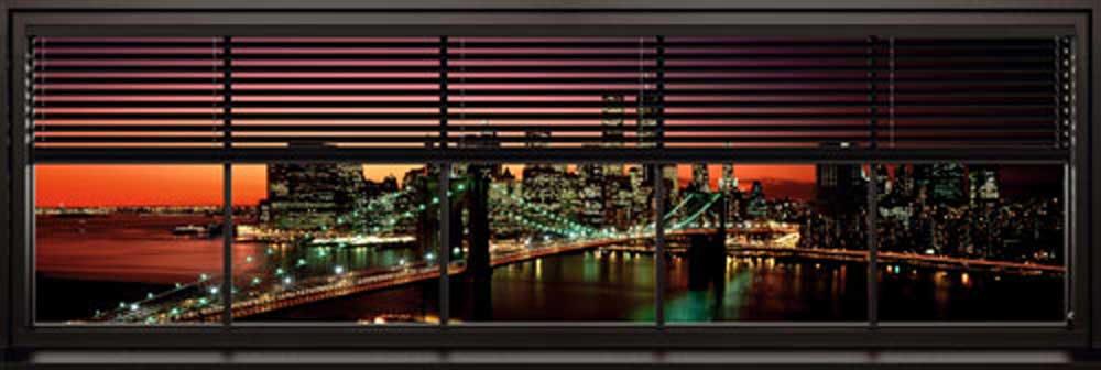 New york window blinds t r poster xxl poster for Store fenetre new york
