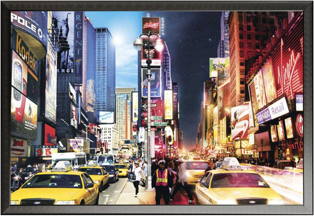 New York Day & Night Amerika Stadt Landschaften - - + Rahmen ...