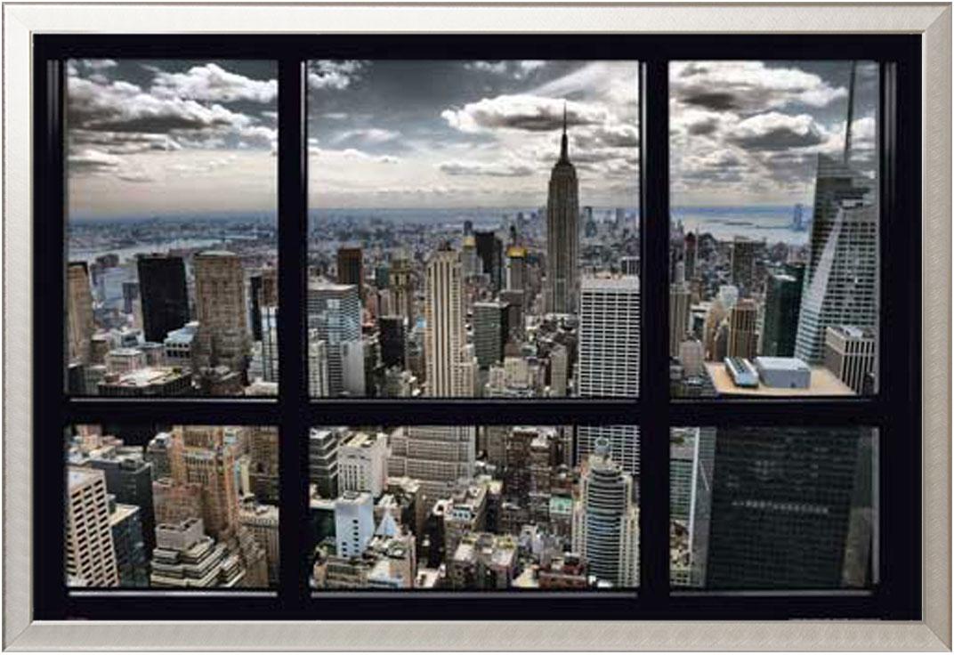new york skyline window blinds st dte poster rahmen kunststoff mdf alu ebay. Black Bedroom Furniture Sets. Home Design Ideas