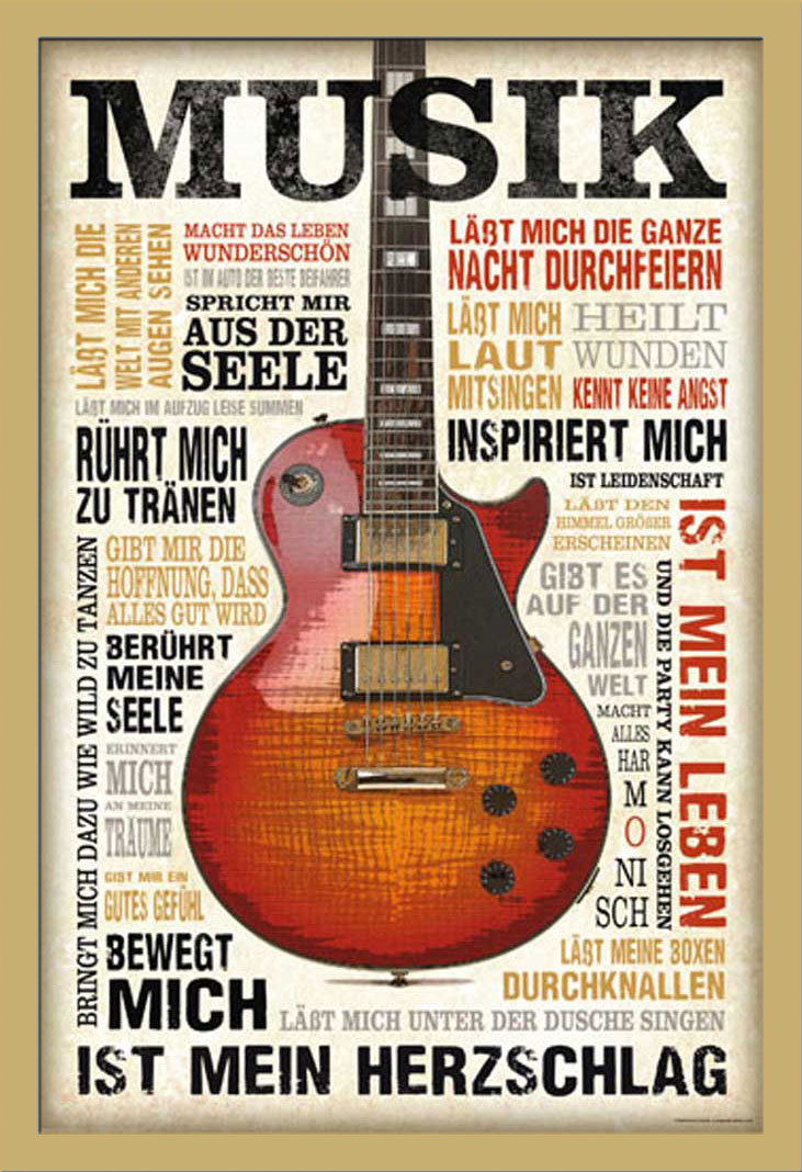 Motivational - Musik ist Leidenschaft Musik - Poster + Rahmen ...