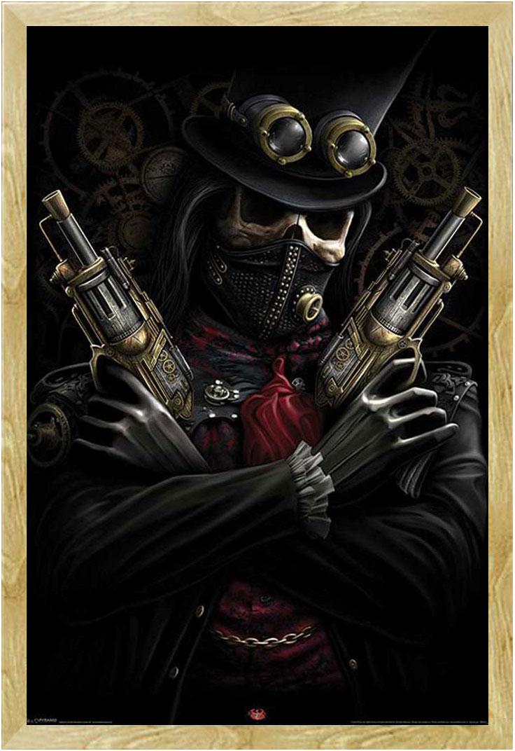 Spiral steampunk bandit gothic fantasy poster for Gothic wohnen