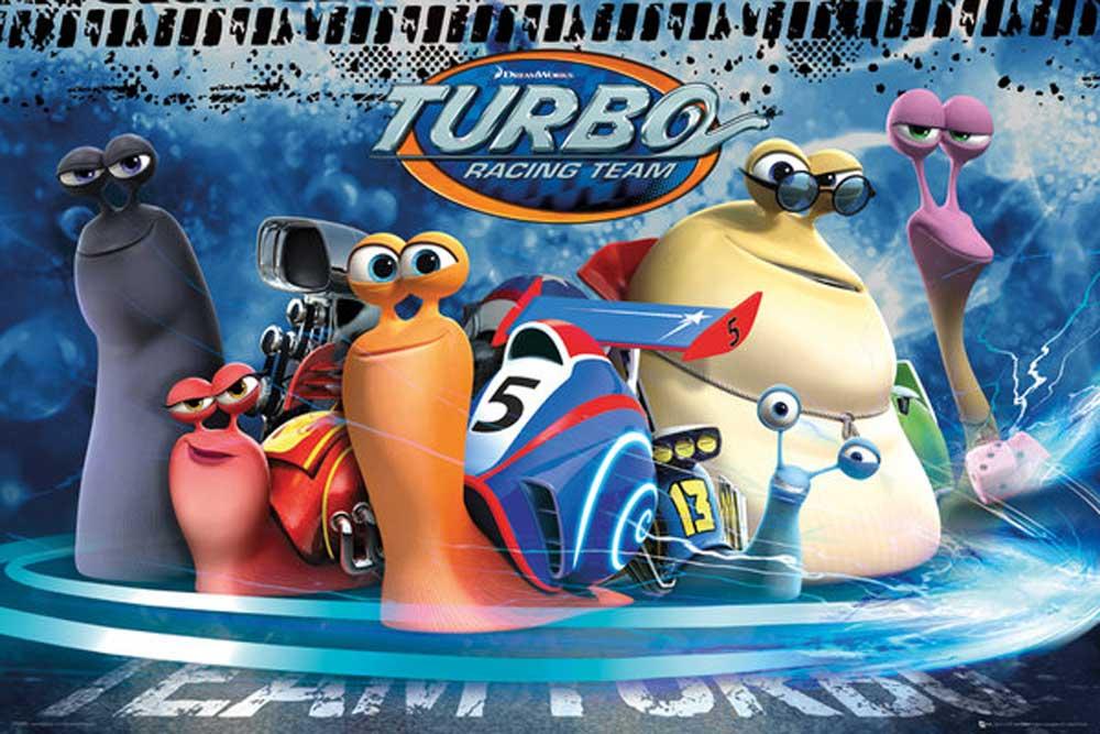 Turbo - Group Kleine Schnecke, großer Traum Disney + Rahmen ...