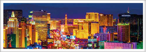 las vegas strip t r poster druck gr e 158x53 cm. Black Bedroom Furniture Sets. Home Design Ideas