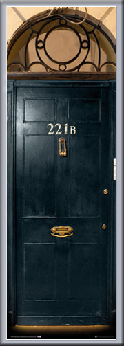 sherlock 221b door bbc fernsehserie t r poster plakat druck gr e 53x158 cm ebay. Black Bedroom Furniture Sets. Home Design Ideas