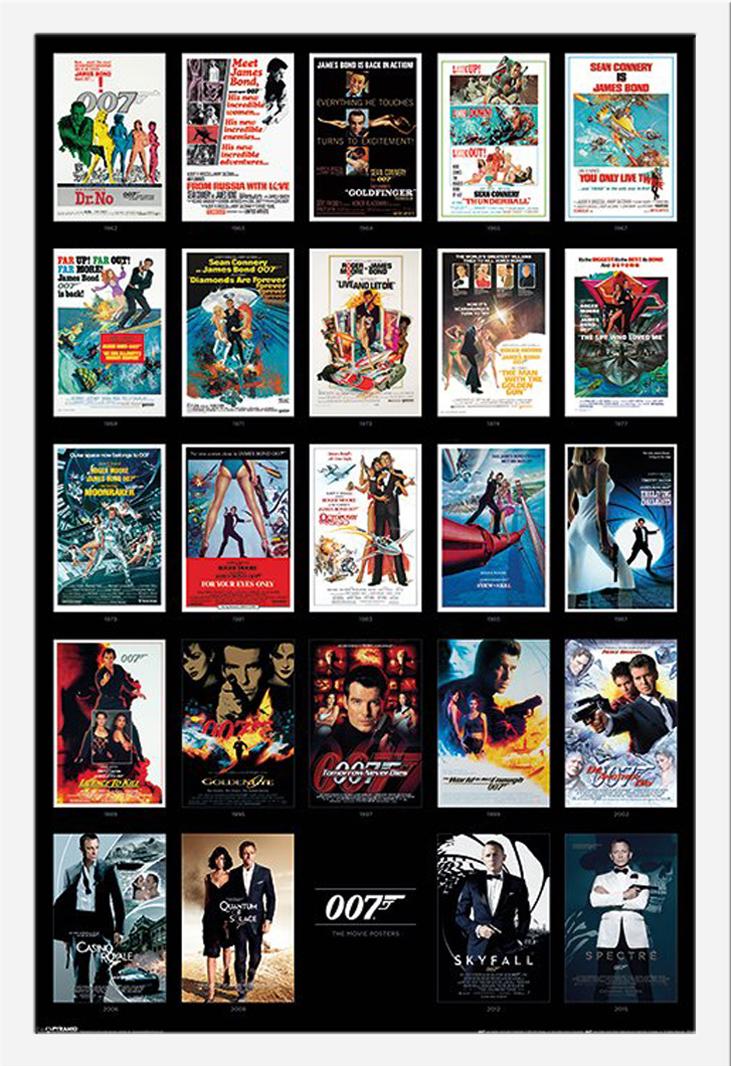 james bond 007 sammelposter movie posters film poster. Black Bedroom Furniture Sets. Home Design Ideas