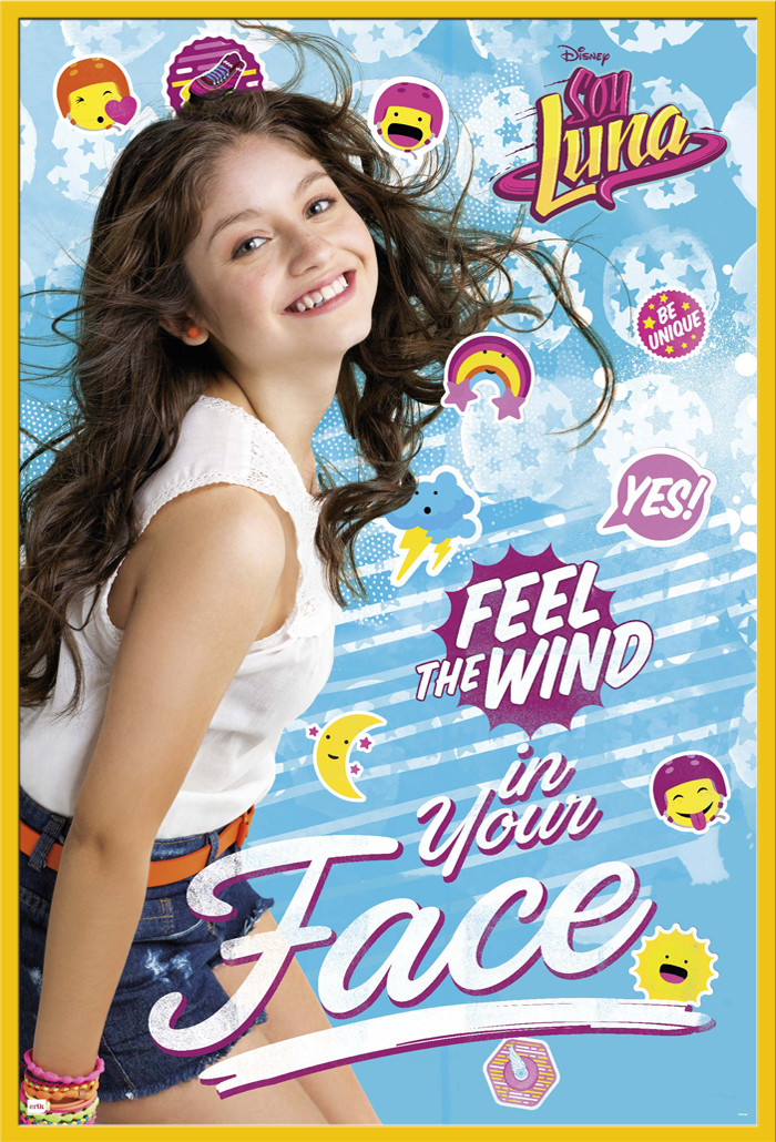 soy luna feel the wind disney serie poster druck plakat gr e 61x91 5 cm ebay. Black Bedroom Furniture Sets. Home Design Ideas
