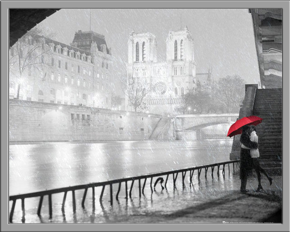 paris notre dame kiss schwarz wei st dte plakat mini poster druck ebay. Black Bedroom Furniture Sets. Home Design Ideas