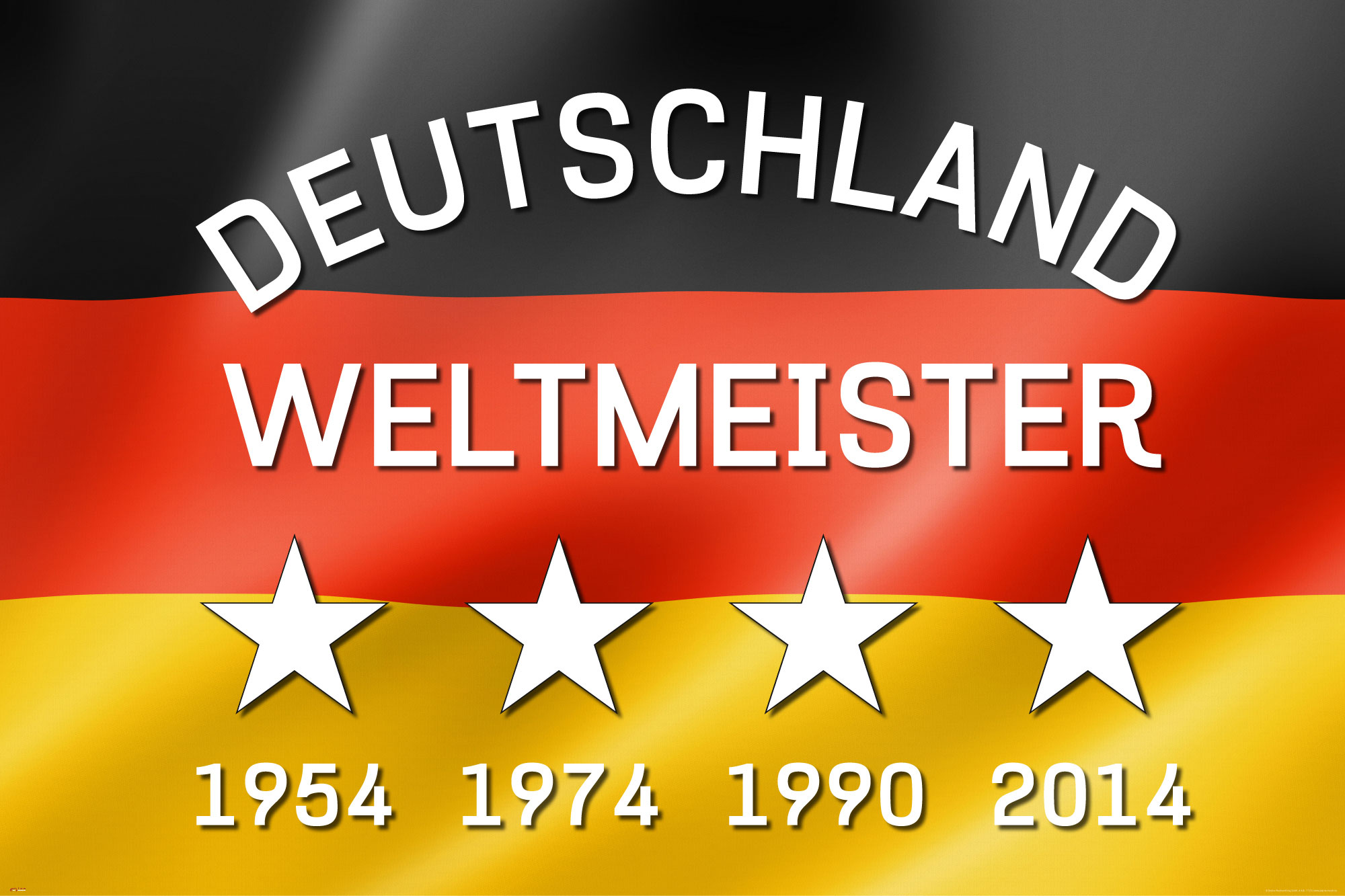 fu ball deutschland weltmeister fahne flagge poster druck gr e 91 5x61 cm ebay. Black Bedroom Furniture Sets. Home Design Ideas