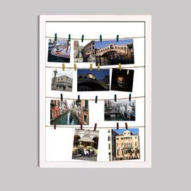 memo collage foto rahmen bilderrahmen aus wei em holz. Black Bedroom Furniture Sets. Home Design Ideas